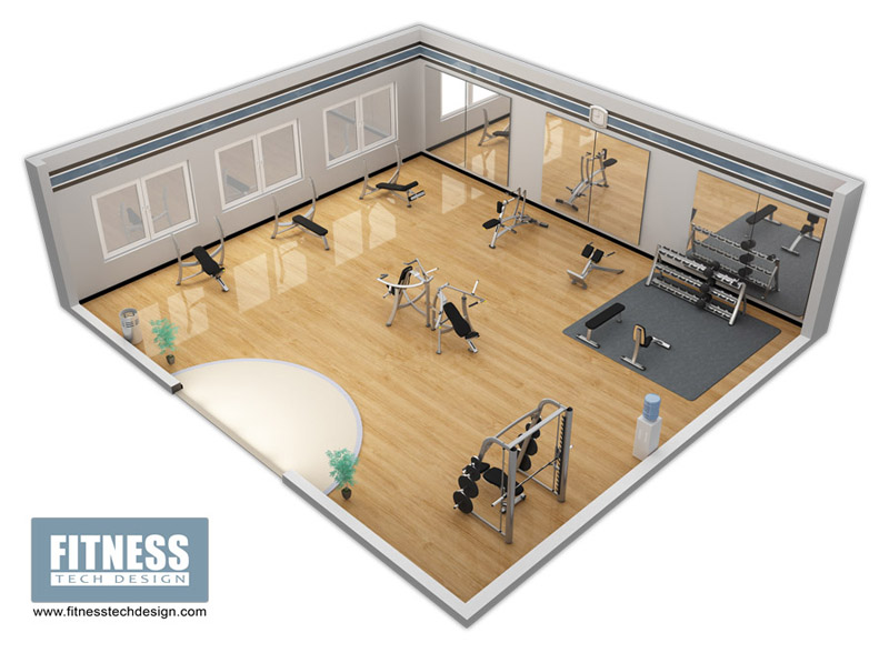 3D Gym Design amp Fitness Layout Portfolio Tech