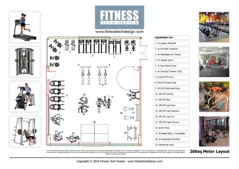 D gym design fitness layout portfolio tech