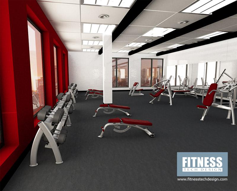 3d gym design 3d fitness layout portfolio fitness tech for Free gym layout design