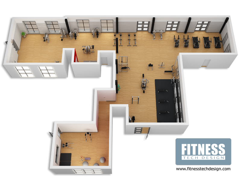 3D Gym Design amp Fitness Layout Portfolio Tech